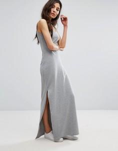 Трикотажное платье макси Vila - Серый
