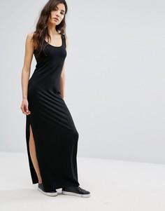 Трикотажное платье макси Vila - Черный