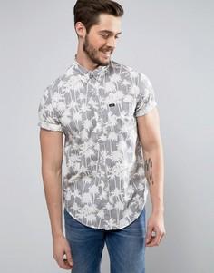 Рубашка классического кроя с короткими рукавами и принтом Lee - Серый