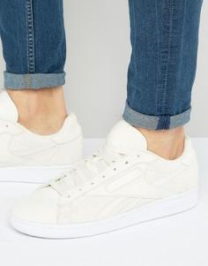 Белые кожаные кроссовки с перфорацией Reebok NPC UK BD2967 - Белый