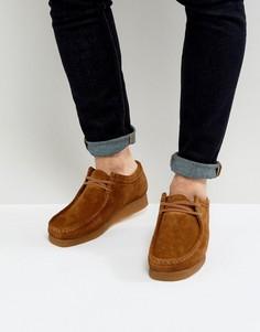 Замшевые ботинки Clarks Orginal Wallabee - Коричневый