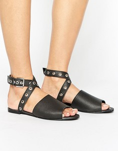 Кожаные сандалии с люверсами Park Lane - Черный