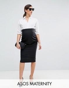 Юбка-карандаш в строгом стиле ASOS Maternity - Черный