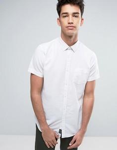 Рубашка из хлопка и льна с короткими рукавами Threadbare - Белый