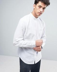 Рубашка с воротом на пуговице из хлопка и льна Threadbare - Белый