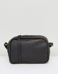 Кожаная сумка через плечо ASOS - Черный