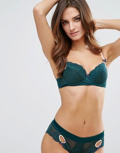 Сине-зеленый бюстгальтер Heidi Klum Zoe - Зеленый
