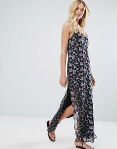Платье с цветочным принтом Walter Baker Dakota Rose Garden - Черный