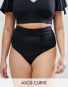 Плавки бикини с завышенной талией ASOS CURVE - Черный