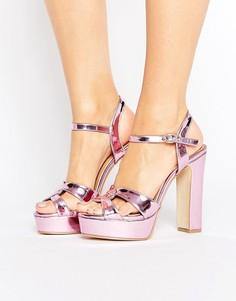 Сандалии на платформе Public Desire Kimaya - Розовый