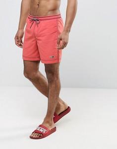 Красные шорты для плавания с маленьким логотипом Napapijri Villa - Красный