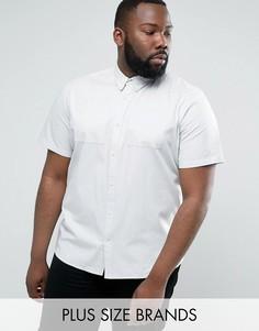 Светлая рубашка из ткани шамбре D-Struct PLUS - Синий