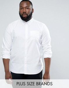 Хлопковая оксфордская рубашка с длинными рукавами D-Struct PLUS - Белый