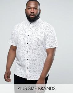 Рубашка в горошек D-Struct PLUS - Белый