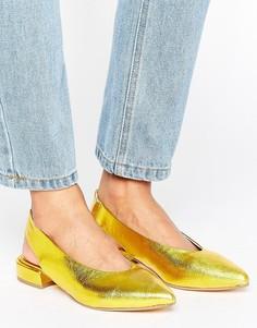 Золотистые туфли на плоской подошве KG by Kurt Geiger Kooky - Золотой
