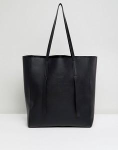 Сумка-шопер без подкладки ASOS - Черный