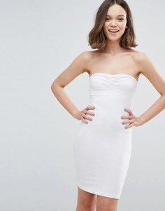 Облегающее платье-бандо Mbym - Белый