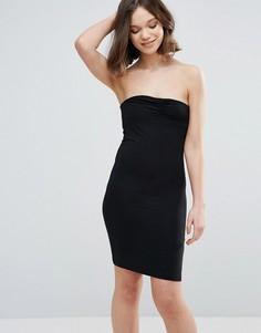 Облегающее платье-бандо Mbym - Черный