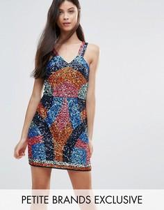 Контрастное платье мини с пайетками Maya Petite - Мульти