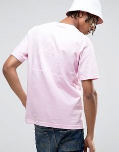 Футболка с принтом на спине HUF - Розовый