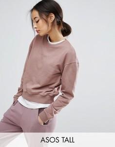Укороченный oversize-свитшот ASOS TALL - Розовый
