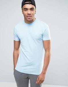 Голубая футболка с логотипом 11 Degrees - Синий
