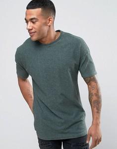 Фактурная футболка с заниженной линией плеч Religion T - Зеленый