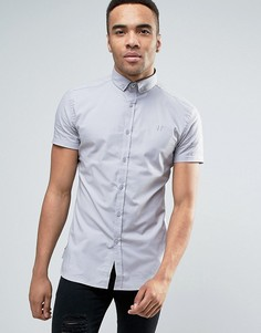 Серая рубашка скинни 11 Degrees - Серый