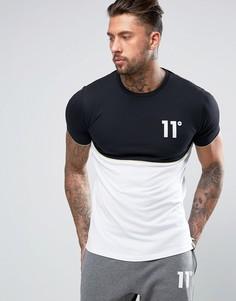 Черная футболка с логотипом 11 Degrees - Черный