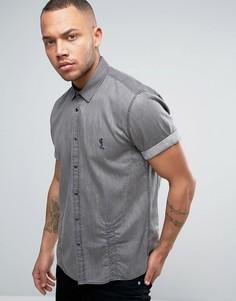 Джинсовая рубашка с короткими рукавами Religion - Серый