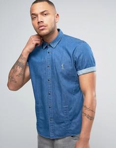 Джинсовая рубашка с короткими рукавами Religion - Синий