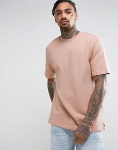 Пыльно-розовый свитер с короткими рукавами Kubban - Розовый