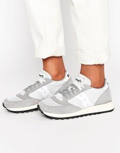 Серые кроссовки с белыми вставками Saucony Jazz Original Vintage - Серый