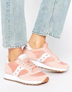 Розовые/белые кроссовки Saucony Exclusive Jazz Original - Розовый