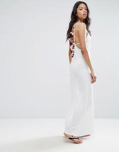 Пляжное платье с помпонами Pitusa - Белый