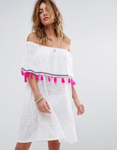 Платье мини Pitusa Ibiza - Белый