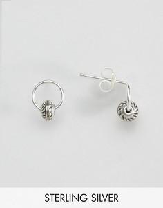 Серебряные серьги-кольца с бусинами ASOS - Мульти