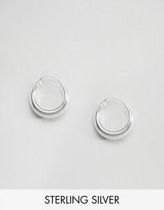 Массивные серьги-кольца из серебра ASOS - Серебряный