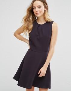 Короткое приталенное платье Lavand - Черный