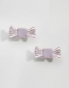 Миниатюрные серьги-гвоздики ASOS - Розовый