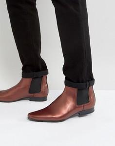 Бордовые ботинки челси ASOS - Красный