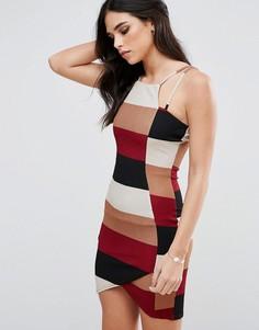 Асимметричное платье мини Ax Paris - Мульти