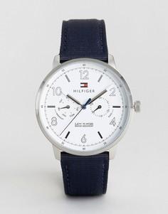 Часы с темно-синим ремешком Tommy Hilfiger 1791358 Nato - Темно-синий