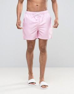 Полосатые шорты для плавания Ringspun - Розовый