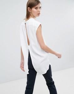 Рубашка без воротника с вырезом на спине Weekday - Белый