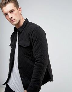 Стеганая куртка-рубашка Another Influence - Черный