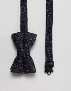 Темно-синий галстук-бабочка из букле ASOS - Темно-синий