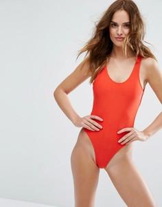 Красный слитный купальник Playful Promises - Красный