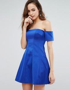 Платье со вставками и открытыми плечами Kendall + Kylie - Синий