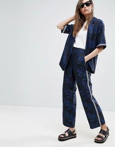 Жаккардовые брюки с пальмами ASOS - Мульти
